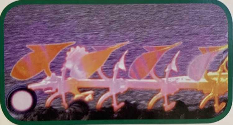 8. kép. Egyes gyártók a váltvaforgató ekék teljes vázszerkezetének szilárdságát hőkezeléssel növelik (hőkamerás felvétel)
