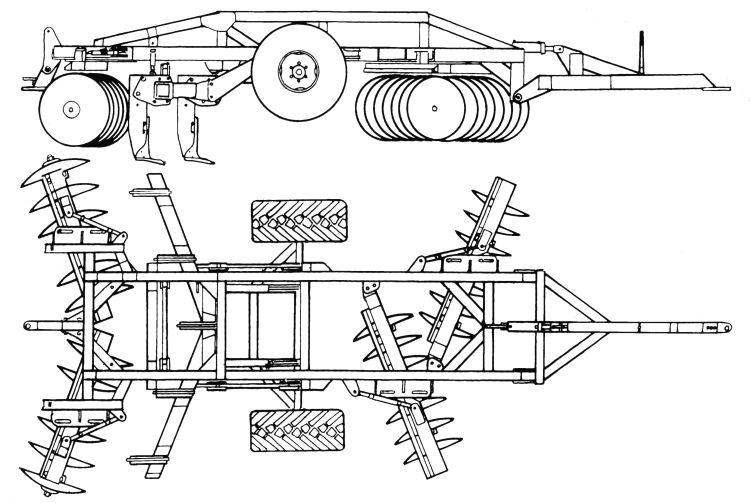 3. kép. SIMBA MONO 200 tárcsás lazító szerkezeti felépítése