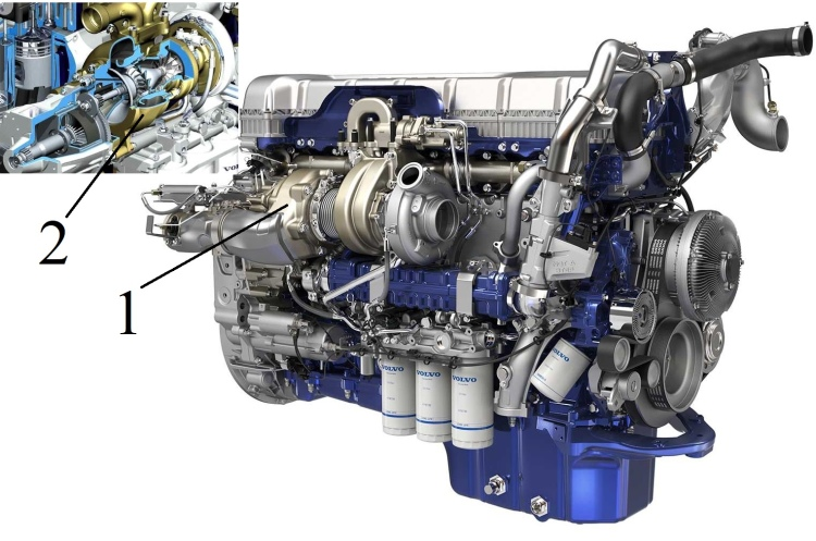 Volvo D13 TC turbocompound dízelmotor