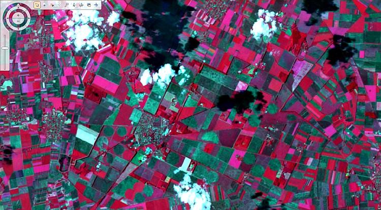 Mezőgazdaság, űrből